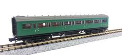 Dapol Maunsell BR 1st Class Coach SR Green 7367 N Gauge DA2P-012-304