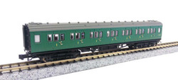 Dapol Maunsell BR 1st Class Coach SR Green 7208 N Gauge DA2P-012-303