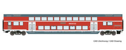 Roco DBAG Bi-Level Nurnberg-Sonneberg 2nd Class Coach VI HO Gauge RC74145