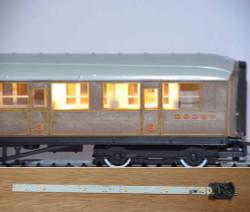 Train Tech Automatic Coach Lighting - Warm White/Standard HO/OO Gauge TTCL2