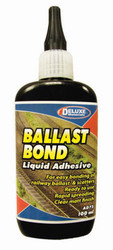 Deluxe Materials Ballast Bond (100ml) Z/N/TT/HO/OO/O/G1/G/SLOT/WARGAMING Gauge