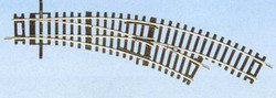 Roco Rocoline (BWR) Right Hand Curved Turnout Radius 2/3 HO Gauge RC42465