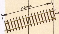 Roco Rocoline (DG1) Diagonal Straight Track 119mm HO Gauge RC42411