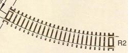 Roco Rocoline Curved Track Radius 2 30 Degree 358mm HO Gauge RC42422
