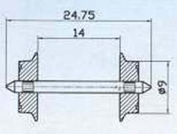 Roco AC Wheelset 9mm (2) HO Gauge RC40195