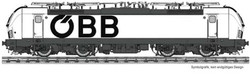 Fleischmann OBB Rh1293 Electric Locomotive VI (DCC-Sound) N Gauge FM739375