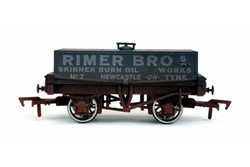 Dapol Rectangular Tank Rimer Bros 7 Weathered OO Gauge DA4F-032-022