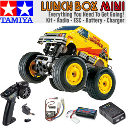 TAMIYA RC 57409 Lunch Box Mini Bundle Deal - Kit Radio Charger Battery