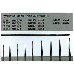ITALERI Tools 0/3 Synthetic Round Brush with Brown Tip A51283
