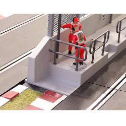 SLOT TRACK SCENICS PL/PWE Pit Wall Ends with Railings - for Scalextric