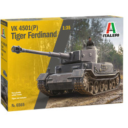 ITALERI 6565 VK 4501(P) Tiger Ferdinand 1:35 Plastic Model Kit