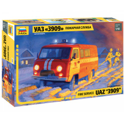 ZVEZDA Z43001 UAZ Firefighter Car 1:43 Plastic Model Kit
