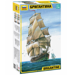 ZVEZDA Z9011 Brigantine (Two Mast Sailing Vessel) 1:100 Plastic Model Kit