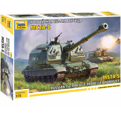 ZVEZDA Z5045 Russian Self Propelled Howitzer 1:72 Plastic Model Kit