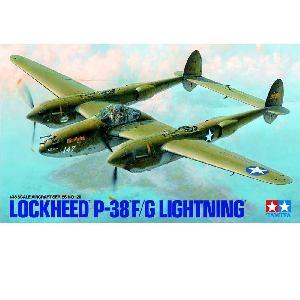 TAMIYA 61120 Lockheed P-38 F/G Lightning 1:48 Plastic Model Kit