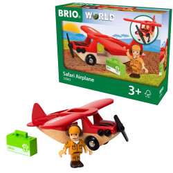 BRIO 33963 Safari Airplane - Wooden Train Set