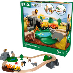 BRIO 33960 Safari Adventure Set - Wooden Train Set