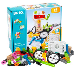 BRIO 34592 Builder Record & Play Set - Wooden Train Set