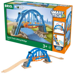 BRIO 33961 Smart Tech Lifting Bridge - Wooden Train Set