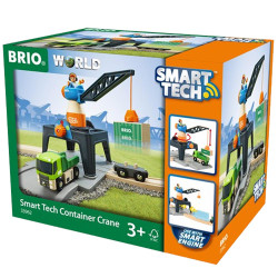 BRIO 33962 Smart Tech Container Crane - Wooden Train Set