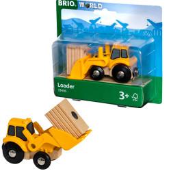 BRIO 33436 Tractor Loader  - Wooden Train Set