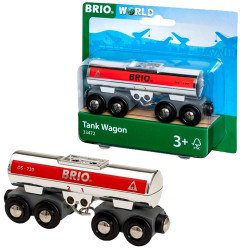 BRIO 33472 Tanker Wagon  - Wooden Train Set