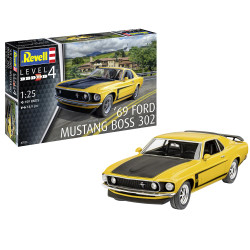 REVELL 1969 Boss 302 Mustang 1:25 Model Car Kit - 07025