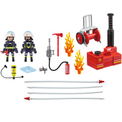 PLAYMOBIL 9468 City Action Firefighters with Water Pump