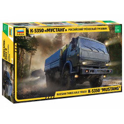 ZVEZDA Z3697 Kamaz Truck 3 Axle 1:35 Plastic Model Kit