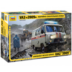 ZVEZDA Z43002 Uaz 3909 Emergency Service Vehicle 1:43 Plastic Model Kit