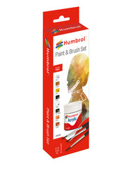 HUMBROL Acrylic Figure Paint and Brush Painting Set