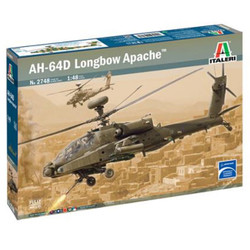 ITALERI British Army AH-64D Longbow Apache 2748 1:48 Helicopter Model Kit
