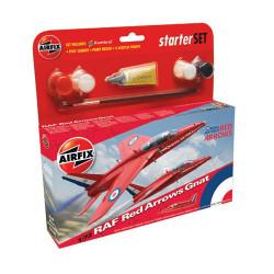 AIRFIX A55105 Red Arrow Gnat Starter Set 1:72 Aircraft Model Kit
