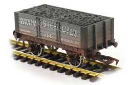 Dapol 5 Plank Wagon 9' Wheelbase Brymbo Steel 286 Weathered OO Gauge