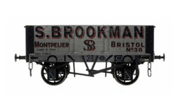 Dapol *5 Plank Wagon 9' Wheelbase S.Brookman 30 Weathered O Gauge DA7F-052-001W