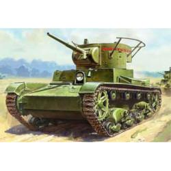 ZVEZDA T-26 Mod .1932 Light Soviet Infantry Tank 1:100 Plastic Model Kit Z6246