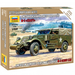 ZVEZDA M-3 Scout Car 1:100 Plastic Model Kit Z6245