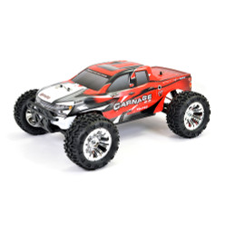 FTX Carnage 2.0 1/10 Brushed Truck 4WD RTR - RED RC Car Batt Chgr 2.4ghz Radio