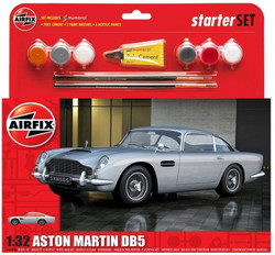 Airfix A50089B Medium Starter Set Aston Martin DB5 Silver 1:32 Plastic Model Kit