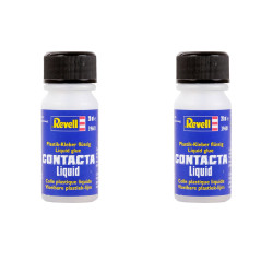 REVELL 39601 Twin Pack Contacta Liquid 20ml Glue for Plastic Model Kits