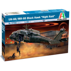 ITALERI UH-60/MH-60 Black Hawk Night Raid 2706 1:48 Helicopter Model Kit