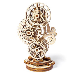UGEARS Steampunk Clock 3D - Mechanical Wooden Model Kit 70093