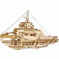 UGEARS Tugboat - Mechanical Wooden Model Kit 70078