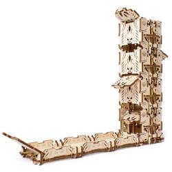 UGEARS Modular Dice Tower - Mechanical Wooden Model Kit 70069