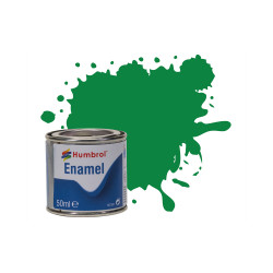 Humbrol 50ml Enamel Paint Tinlet - No 2 Emerald Gloss Model Kit Paint