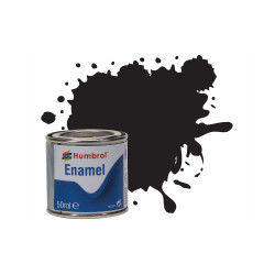 Humbrol 50ml Enamel Paint Tinlet - No 85 Black Satin Model Kit Paint