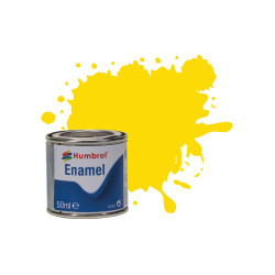 Humbrol 50ml Enamel Paint Tinlet - No 69 Yellow Gloss Model Kit Paint