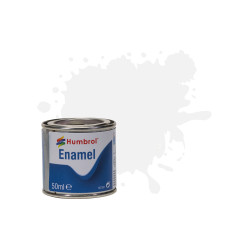 Humbrol 50ml Enamel Paint Tinlet - No 34 Matt White Matt Model Kit Paint