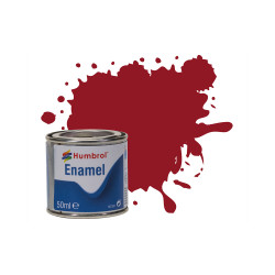 Humbrol 50ml Enamel Paint Tinlet - No 20 Crimson Gloss Model Kit Paint