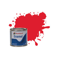 Humbrol 50ml Enamel Paint Tinlet - No 19 Bright Red Gloss Model Kit Paint